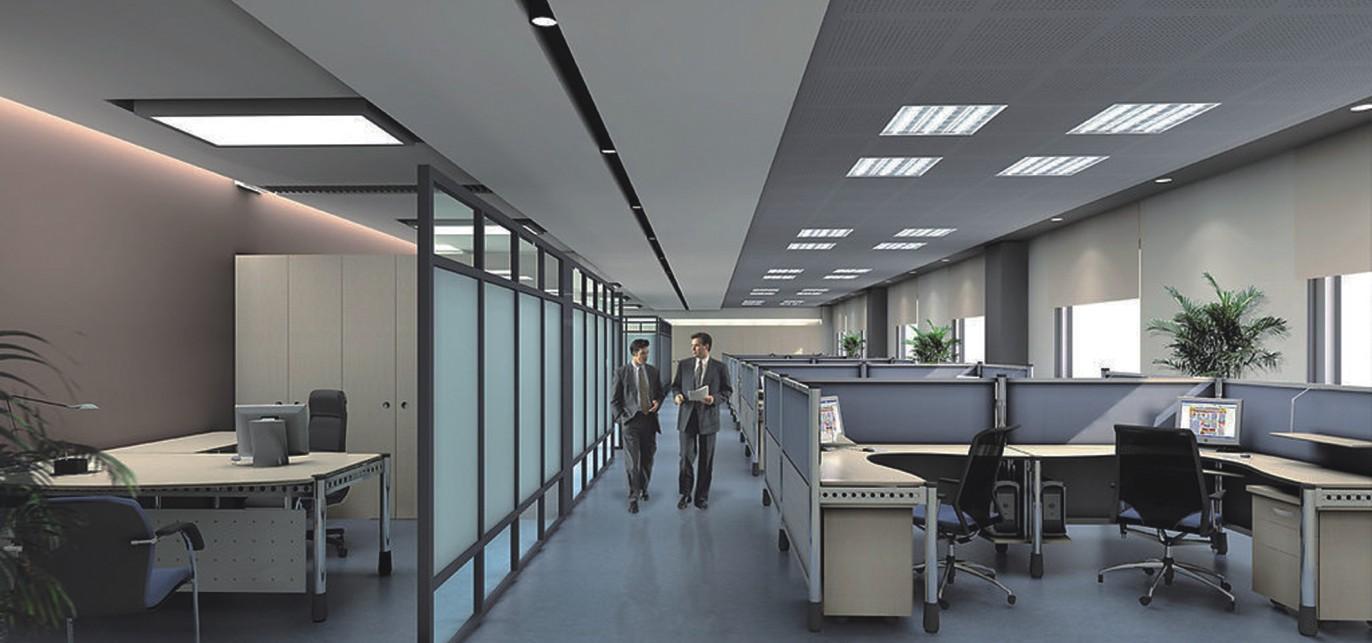 开敞式办公室中声音掩蔽系统的应用图片
