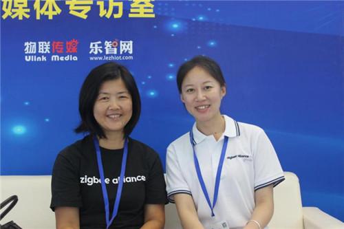 Zigbee联盟主席宿为民(左)与Zigbee联盟中国区代表商瑞云(右)