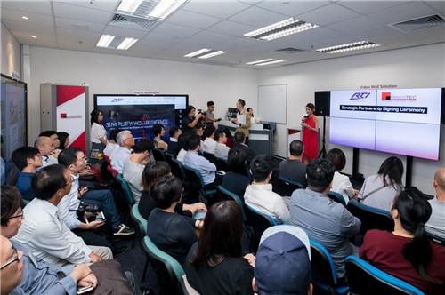 近40位客人见证了RTI与Mindstec的战略合作伙伴签约仪式