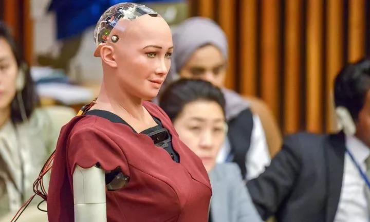 成为世界上首个获得公民身份的机器人1个月后,索菲娅宣布想要组建家庭