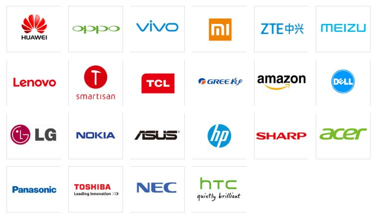 图片:汇顶科技主要客户名单