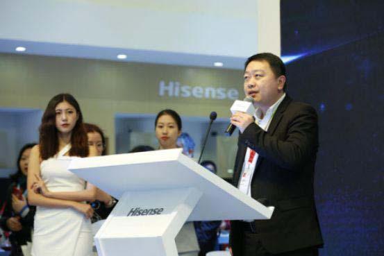 苏宁易购冰洗公司总裁徐仲表达了对海信新品的殷切期望
