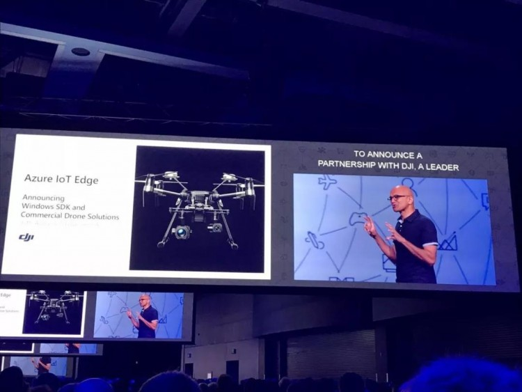 微软公司首席执行官萨提亚·纳德拉宣布与大疆达成战略合作