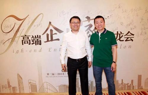 河姆渡COO李德杰(左)与亿邦动力总裁贾鹏雷(右)